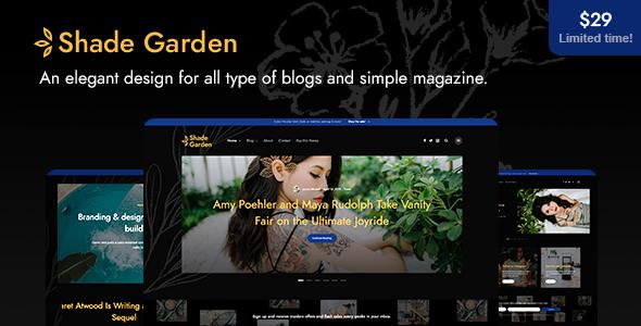 ShadeGarden - Creative Blog WordPress Theme