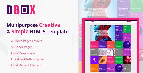 Dbox Multipurpose HTML5 Template