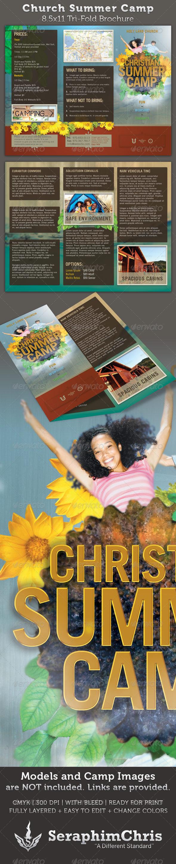 Summer Camp Brochure Graphics Designs Templates