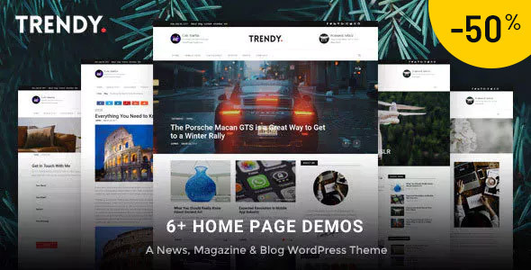 Trendy Pro - Modern WordPress News Magazine Blog Theme