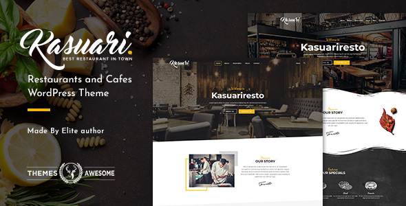 Kasuari | Restaurants and Cafes WordPress Theme