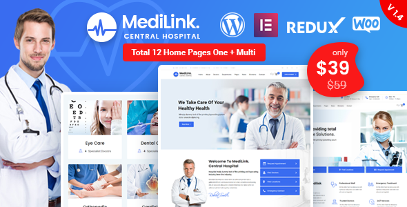 Medilink - Health & Medical WordPress Theme