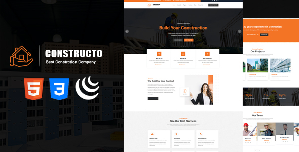 Constructo - Responsive HTML5 Construction Service Template