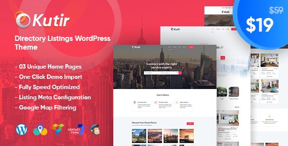 Kutir - Directory Listing WordPress Theme