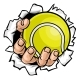 Tennis Ball Hand Tearing Background - GraphicRiver Item for Sale