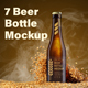 7 MockUps of Glass Beer Bottle With Flying Wheat - GraphicRiver Item for Sale