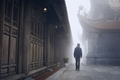 Traveler in mysterious fog - PhotoDune Item for Sale