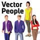 Vector People and People All Together in a Shape - GraphicRiver Item for Sale