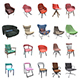 PBR Chairs - 20 Pieces - 3DOcean Item for Sale