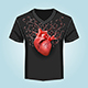 Shirt Template with Human Heart and Swirl Pattern - GraphicRiver Item for Sale