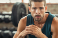 Portrait of determined man at gym - PhotoDune Item for Sale