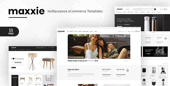 Maxxie - Multipurpose eCommerce PSD Template