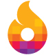 Flame Pixel Logo - GraphicRiver Item for Sale