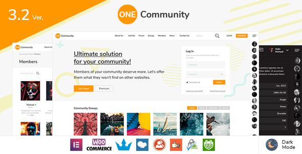 OneCommunity - BuddyPress Nouveau Community Theme with Likes and Achievements
