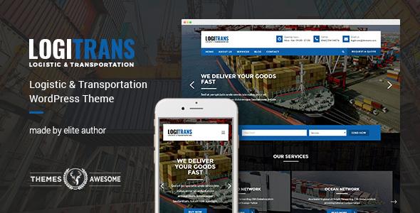 Logistic WordPress Theme - LogiTrans