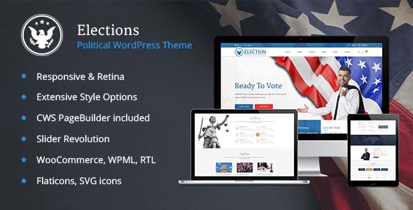 Elections - Political WordPress theme