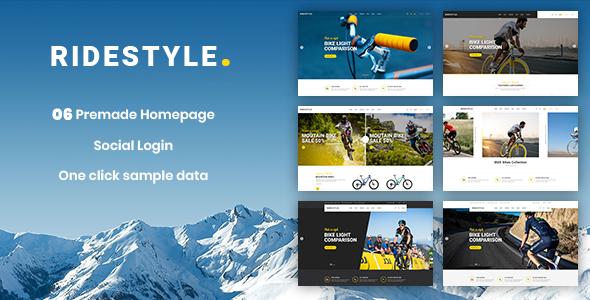 Ridestyle - Sport, Bicycle Responsive PrestaShop 1.7 Theme