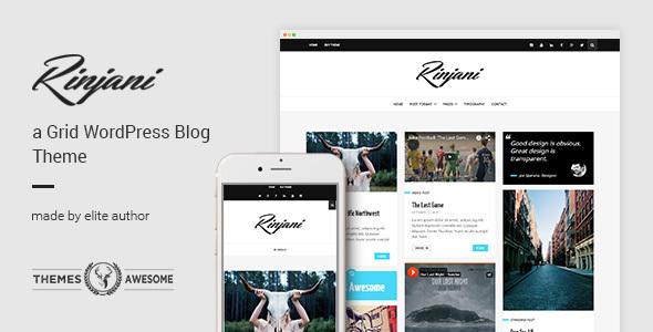 A Responsive Grid Blog Theme - Rinjani