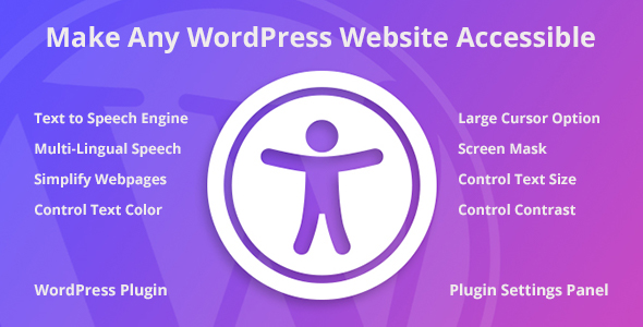 Accessibility WordPress PluginPrice : $26