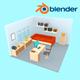 Room Lowpoly - 3DOcean Item for Sale