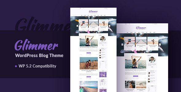 Glimmer - A Responsive WordPress Blog Theme