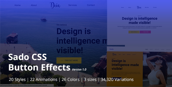 Sado CSS3 Button Effects Pack