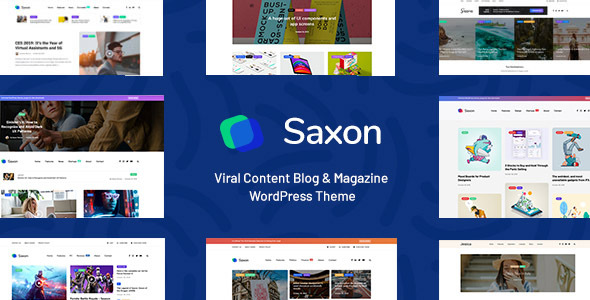 Saxon - Viral Content Blog & Magazine Marketing WordPress Theme