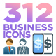 Education, Business, Office, Finance & Professions Icon Pack - GraphicRiver Item for Sale