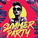 Tropical Summer Party Event Flyer - GraphicRiver Item for Sale