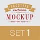 5 Logo Mock-Ups In Vintage Style - GraphicRiver Item for Sale