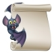 Halloween Vampire Bat Cartoon Character Scroll - GraphicRiver Item for Sale
