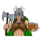 Viking Female Gladiator Football Warrior Woman - GraphicRiver Item for Sale