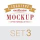 5 Logo Mock-Ups In Vintage Style - Set 3 - GraphicRiver Item for Sale