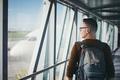 Man in passenger boarding bridge - PhotoDune Item for Sale