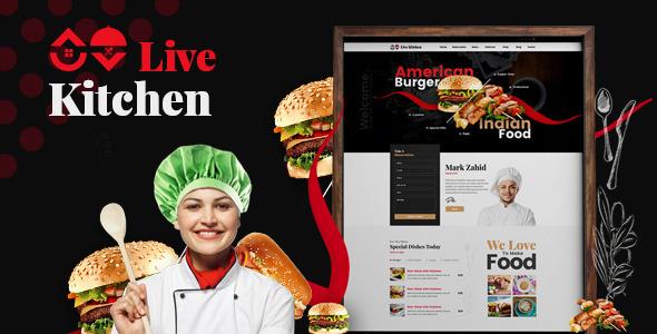 Livekitchen | Restaurant Cafe WordPress Theme