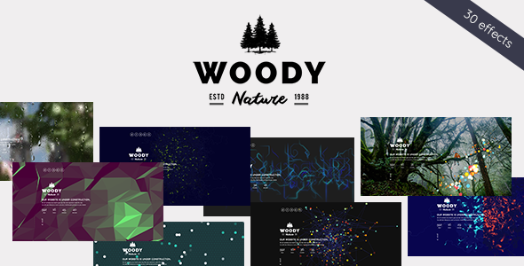 Woody - Exclusive Coming Soon WordPress Theme