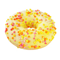 Yellow glazed circle donut isolated on white background with clipping path - PhotoDune Item for Sale