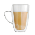 Double wall mug with latte coffee isolated - PhotoDune Item for Sale