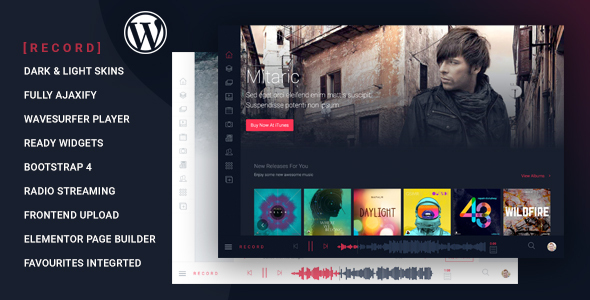 Rekord - Ajaxify Music - Events - Podcasts Multipurpose WordPress Theme