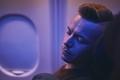 Man sleeping during flight - PhotoDune Item for Sale