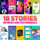 Reviews And Testimonials Insta Pack - VideoHive Item for Sale