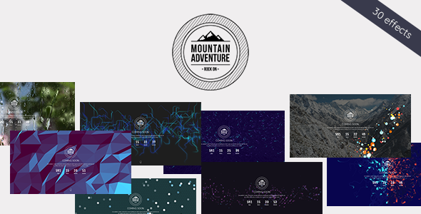 Mountain - Exclusive Coming Soon WordPress Theme