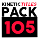 Kinetic Titles Pack - VideoHive Item for Sale