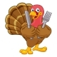 Turkey Thanksgiving or Christmas Cartoon Character - GraphicRiver Item for Sale