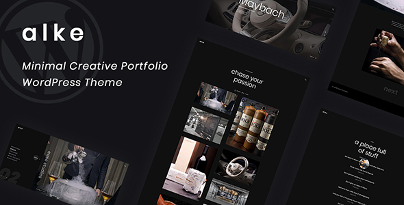 Alke – Minimal Creative Portfolio WordPress Theme
