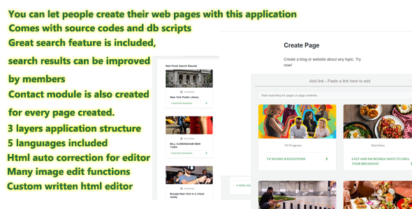 IzyRead MVC Blog Page,Page Creator & CMS Application