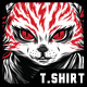Deadly Eyes T-Shirt Design - GraphicRiver Item for Sale