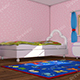 Cartoon Pink Kids Room - 3DOcean Item for Sale