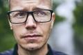 Man with eyeglasses in rain - PhotoDune Item for Sale