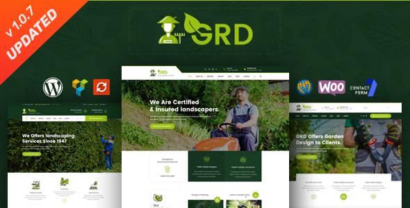 GRD - Gardening, Lawn & Landscaping WordPress Theme